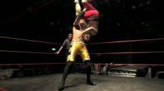 Professional Wrestling Move - Fisherman's Suplex and Pin HD Stock Footage