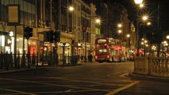 Oxford street at night, London - stock footage