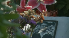 Faces from the past cemetery (3) Stock Footage