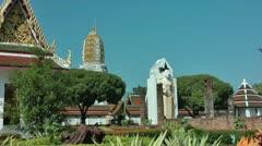 Thailand Phitsanulok Wat Yai Wat Phra Si Rattana Mahatat - stock footage