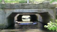 View under an old bridge Stock Footage