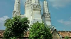 Thailand Phetchaburi Wat Mahatat Worawihan Stock Footage