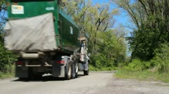 Garbage truck - stock footage