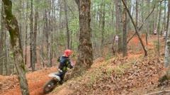 Motocross dirt bike racing montage 02 Stock Footage
