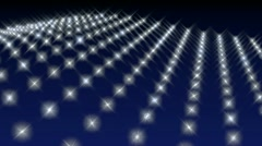 Background with wavy grid of lights Stock Footage