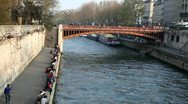 Bridge over Seine Stock Footage