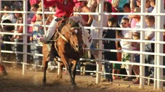 Stock Footage -6  Horses running at show - Cowgirls - American Flags - July 4th Stock Footage