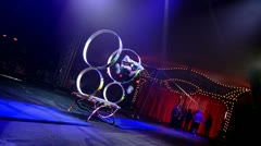 Circus artists in action - stock footage