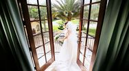 Traditional Bride Posing Luxury Home Wedding Photographs  Stock Footage