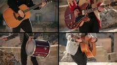 Concert in the amphitheater - Multiscreen Stock Footage