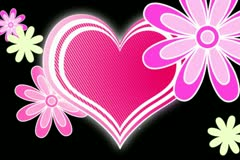 Retro Hearts Wipe Stock Footage