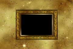 Wood Frame Overlay 01 Stock Footage