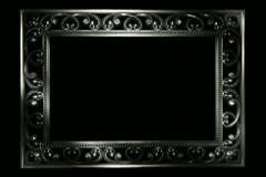 Diamond Silver Frame Widescreen Stock Footage