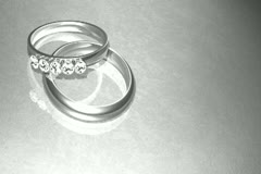 Platinum Wedding Rings Background Widescreen Stock Footage