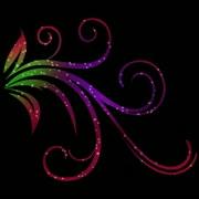 Vibrant Flourish Motion Design Element 02 HD Stock Footage