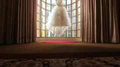 Window Wedding Dress Stock Footage