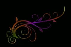 Vibrant Flourish Motion Design Element 01 Stock Footage