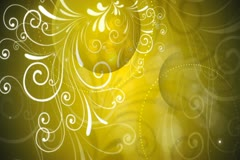 Gold Flourish Background 01 Widescreen Stock Footage