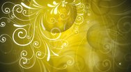 Stock Video Footage of Gold Flourish Background 01 Widescreen