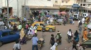 Stock Video Footage of Gambian market