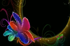 Vibrant Flourish Background 02 Widescreen Stock Footage