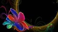 Vibrant Flourish Background 02 Widescreen Stock Footage