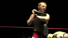 Pro Wrestling Move - Anklelock Submission Hold HD - stock footage