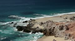 Amazing wild beach mexico desert baja california sur Stock Footage
