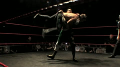 Pro Wrestling Sequence - Bodyslam and Legdrop HD - stock footage