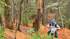 Motocross dirt bike racing 02 Stock Footage