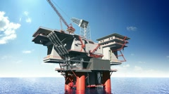 Construction of the oil platform Stock Footage