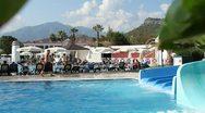 Types Of The Luxury Hotel In Turkey. Sand Beach. Stock Footage