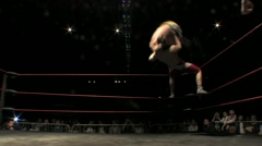 Pro Wrestling Move - Top Rope Superplex & Submission Hold HD Stock Footage