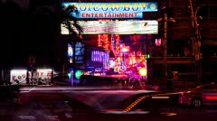 Timelapse - Bangkok red light district Stock Footage