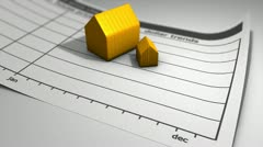 House price chart Stock Footage