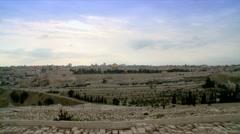 Skyline of the Old City of Jerusalem Stock Footage