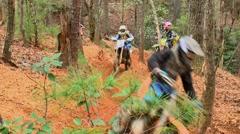 Motocross dirt bike racing 03 Stock Footage
