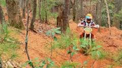 Motocross dirt bike racing montage 04 Stock Footage