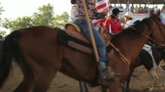 Stock Footage - Parade of Horses - Slow Motion - 4th of July Rodeo Stock Footage