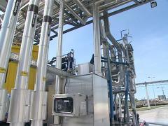 car tank fill biodiesel - stock footage