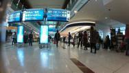 Dubai International Airport duty free area walking timelapse Stock Footage