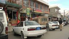 Driving through a Pakistani village - stock footage
