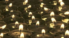 Tea Candles m 03 Stock Footage