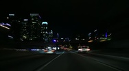 Stock Video Footage of Driving Timelapse Night 58 Freeway LA Downtown