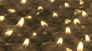 Tea Candles rm 02 Stock Footage