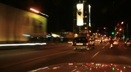 Driving Timelapse Night 43 Hollywood Sunset Blvd Stock Footage