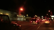 Driving Timelapse Night 42 Hollywood Sunset Blvd Stock Footage