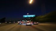 Stock Video Footage of Driving Timelapse Night 57 Freeway