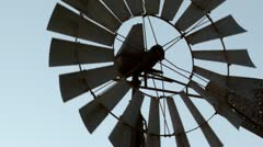 Rusted Old Windmill Stock Footage