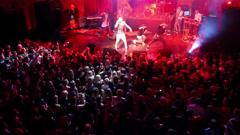 Concert of Dima Bilan in Ufa, Russia Stock Footage